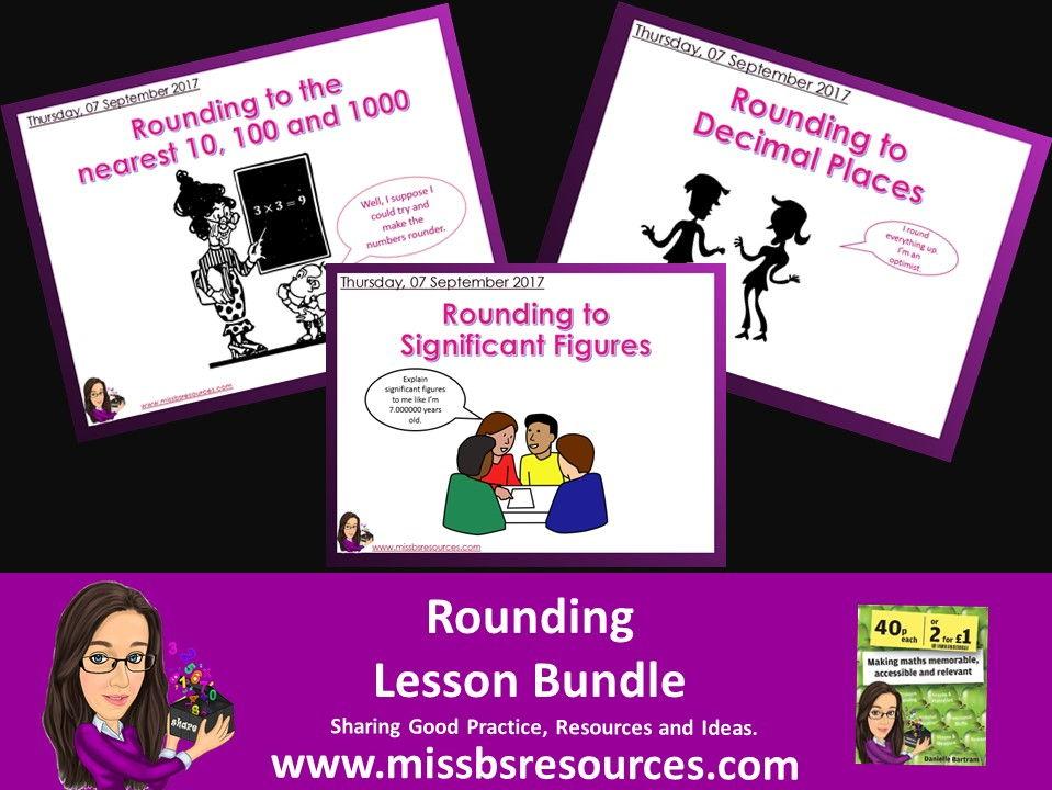 Rounding Maths Lesson Bundle