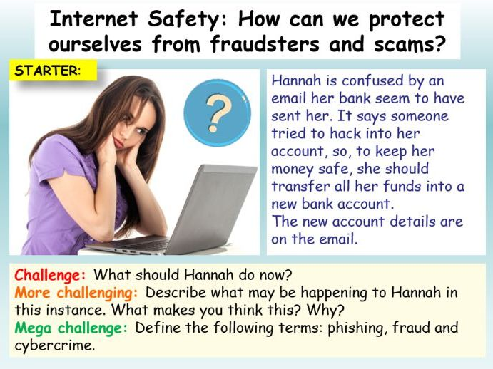 Internet Safety : Cyber Crime