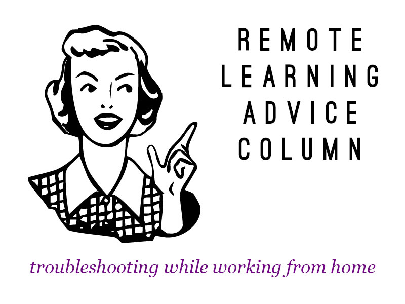 Remote Learning Advice Column - Scenarios and Problem Solving Activity