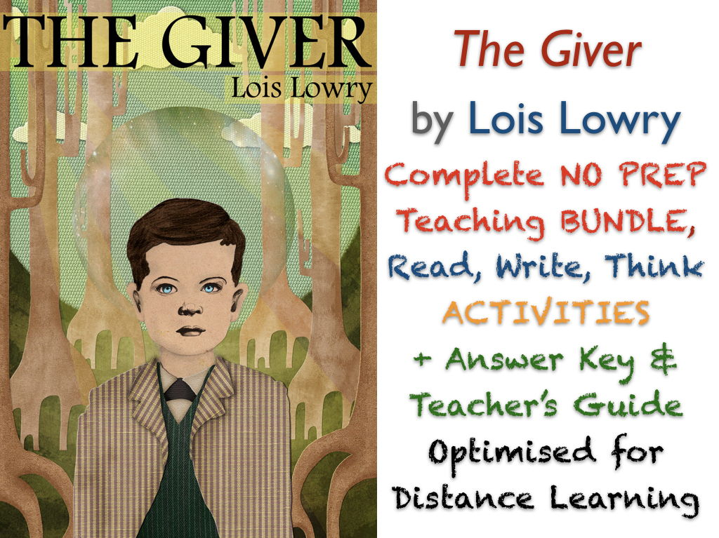 The Giver (Lois Lowry) Complete NO PREP TEACHING BUNDLE ACTIVITIES + ANSWERS