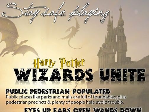 Wizards Unite Safety Poster
