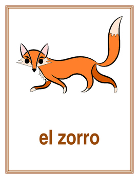 Animales (Animals in Spanish) Posters