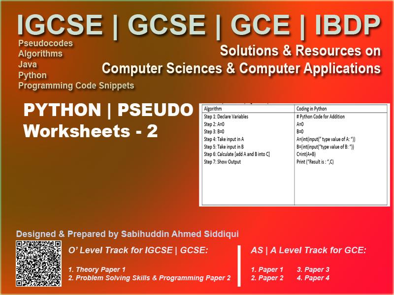 Python Programming with Pseudocode 2