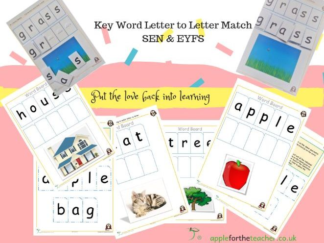 Letter to letter match reading and spelling activity for EYFS and learners with SEN