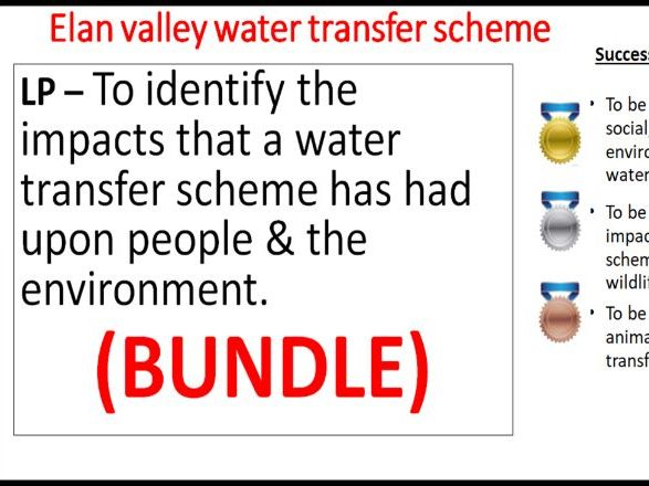 (8 resources) 1-9 gcse ks3 geography use modify landscape for water environment scheme