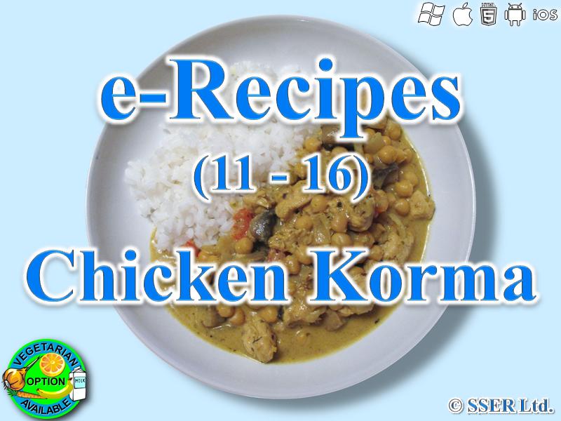 16. Korma (e-Recipe)