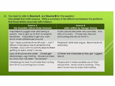 AQA Language Paper 2 Q 1 to 4 revision