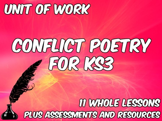 Conflict Poetry for KS3 - Unit of Work