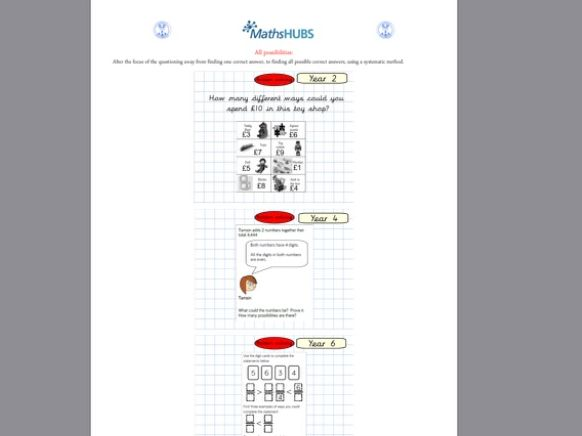 Problem Solving Booklet