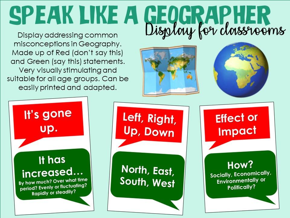 Speak Like a Geographer Display