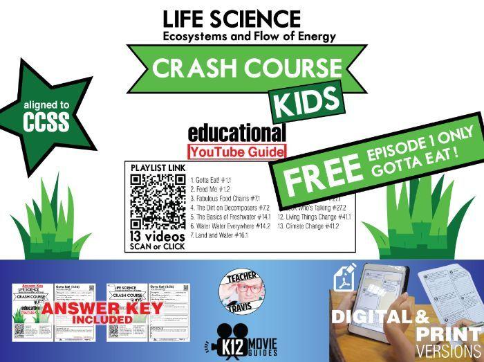 Crash Course Kids - Life Science Playlist - Gotta Eat! (E01) Youtube Guide Free