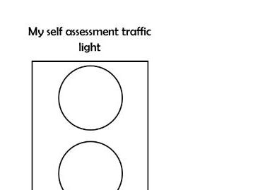 Self assessment traffic light by winstateach - Teaching Resources - Tes
