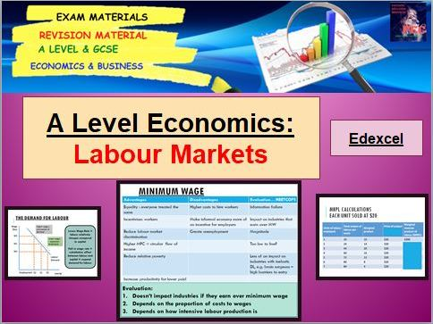 Labour Markets Bundle including microeconomics exam paper: A Level Economics