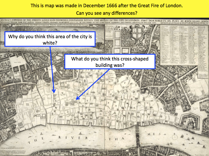 great fire of london introduction and timeline activity by