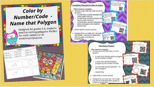 Years 4 & 5 Geometry Polygons & Triangles Bundle