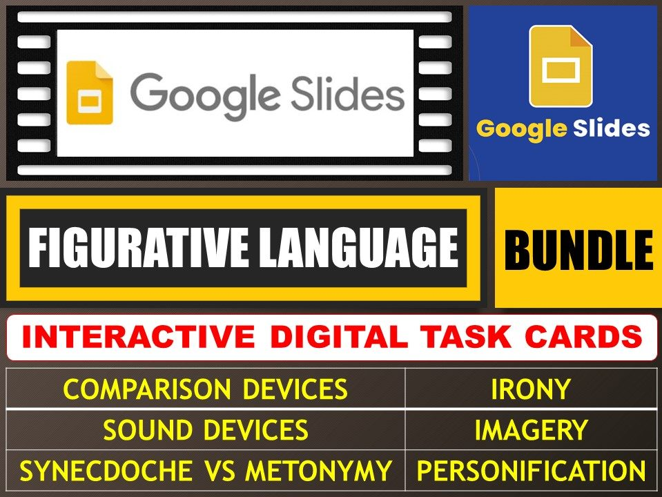 FIGURATIVE LANGUAGE - FIGURES OF SPEECH: GOOGLE SLIDES - BUNDLE