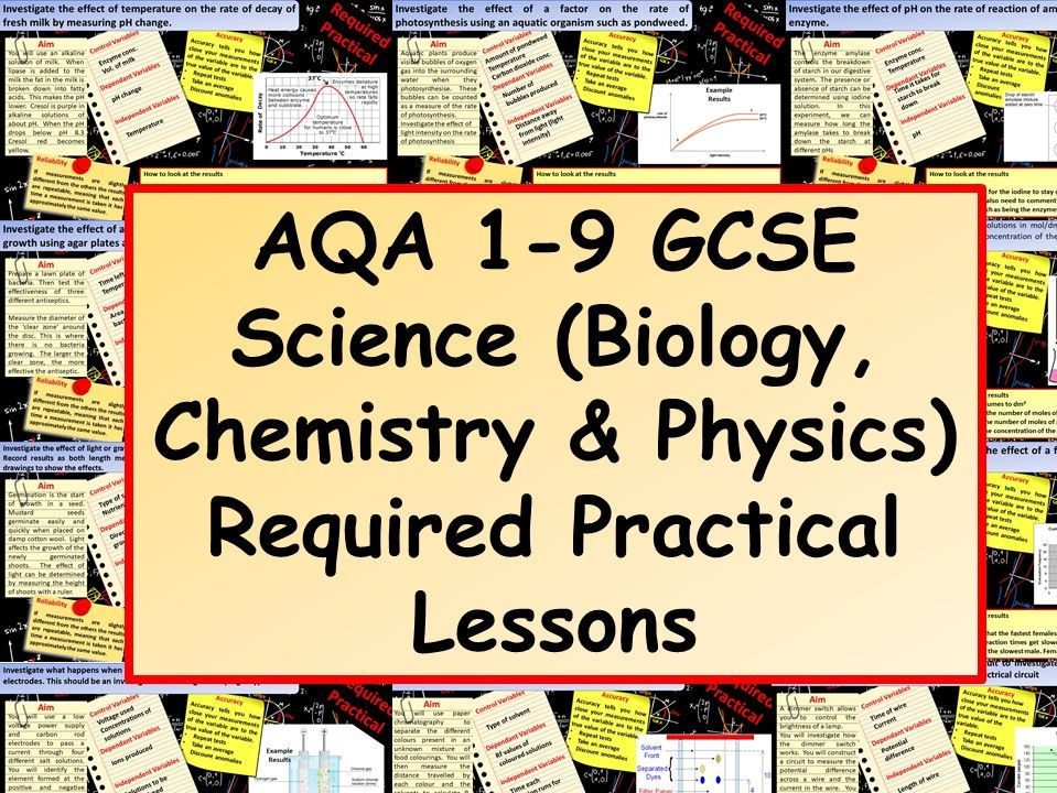 New 1-9 GCSE Science Required Practical Lessons