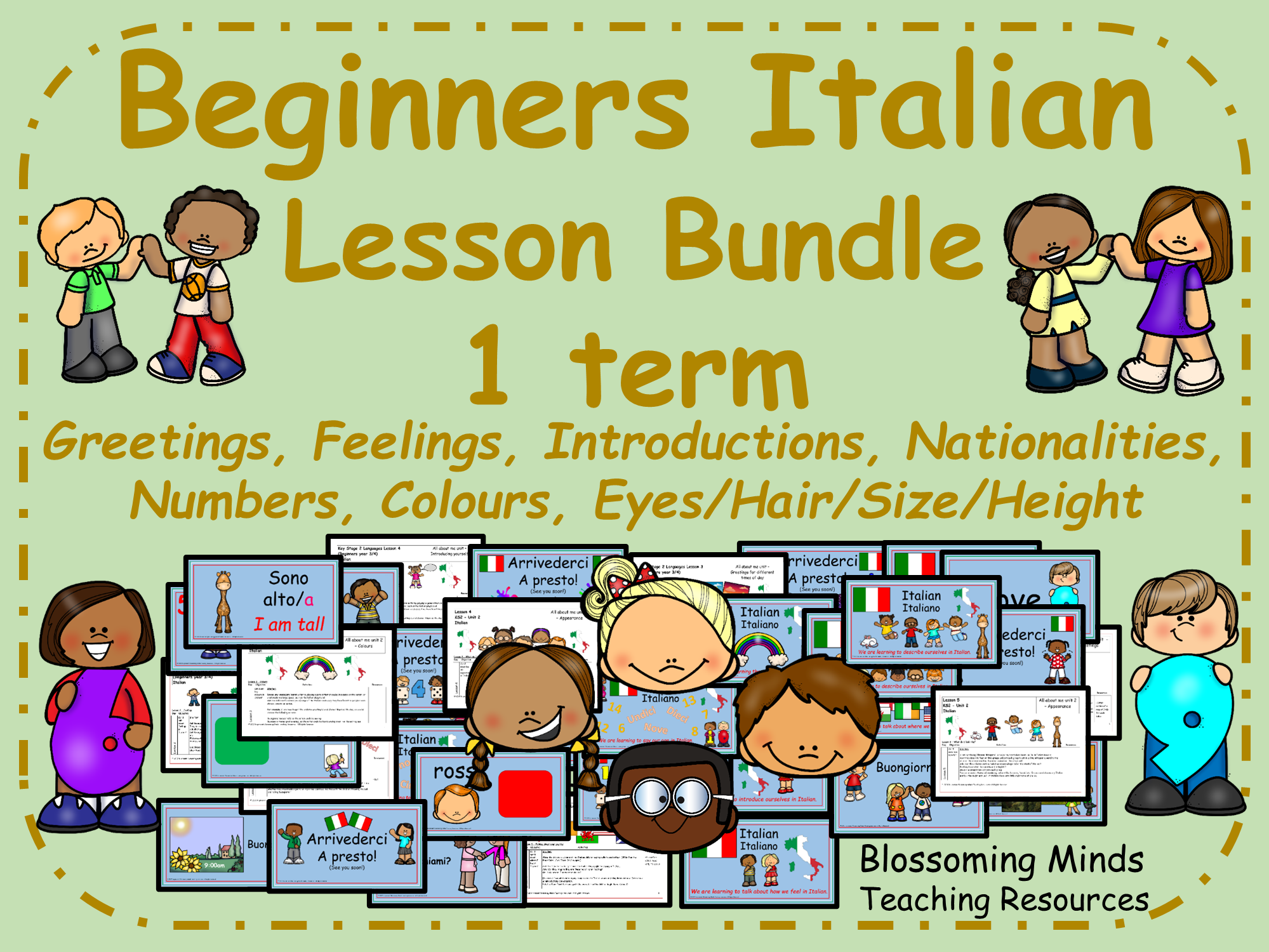 Italian Lesson Bundle (1 term) Beginners