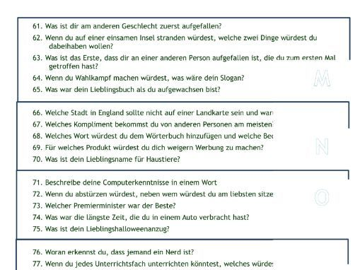 96 Captivating German Questions for First Lesson Back - Speaking Activity