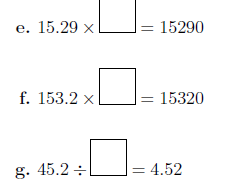 Multiplying and dividing decimals by 10, 100 and 1000 worksheet (with solutions)