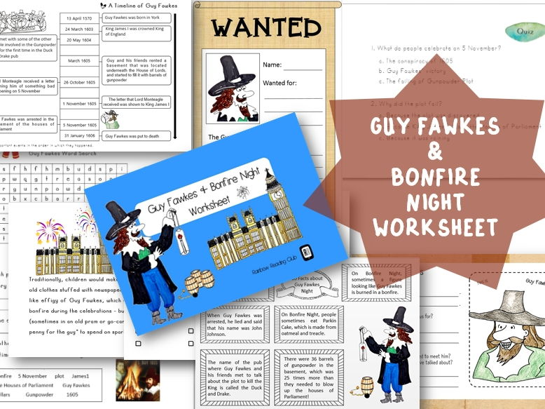 Guy Fawkes & Bonfire Night worksheet