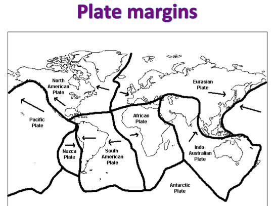 KS3 Natural Hazards - Plate Margins