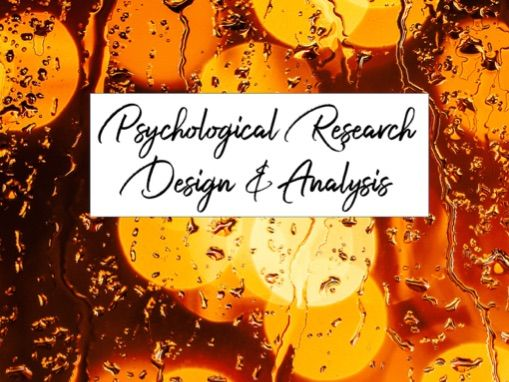 Introduction to Research Design and Analysis