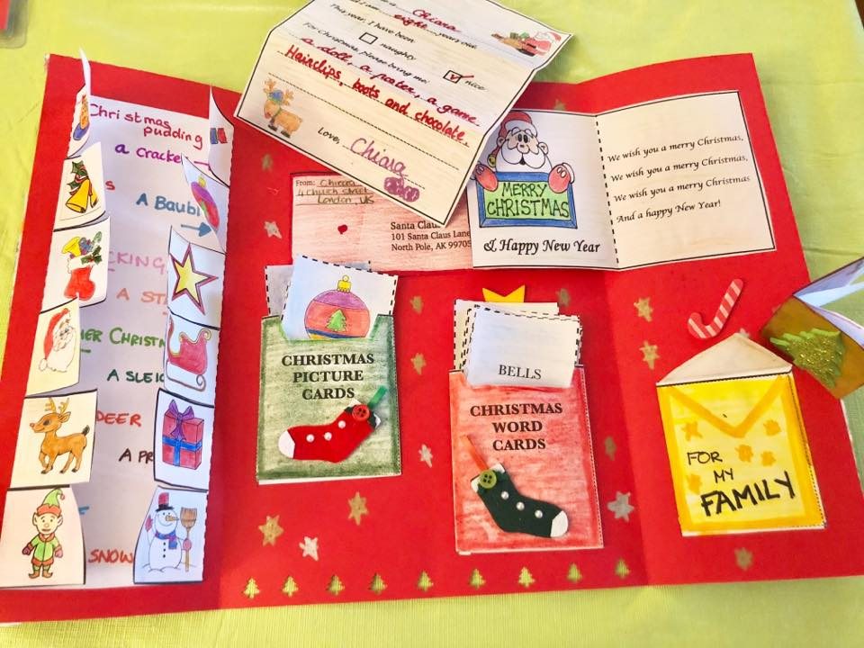 Christmas lapbook for Young Learner EFL/ESL/EAL