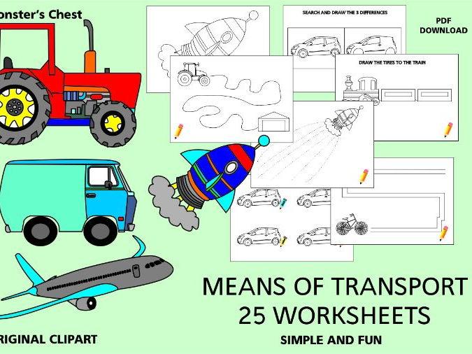 Means of Transport Worksheets