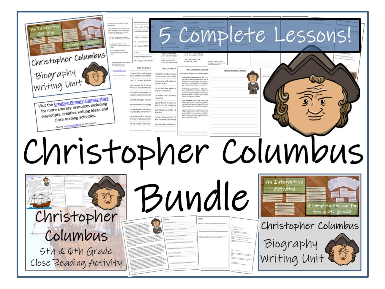 UKS2 History - Christopher Columbus Reading Comprehension & Biography Bundle
