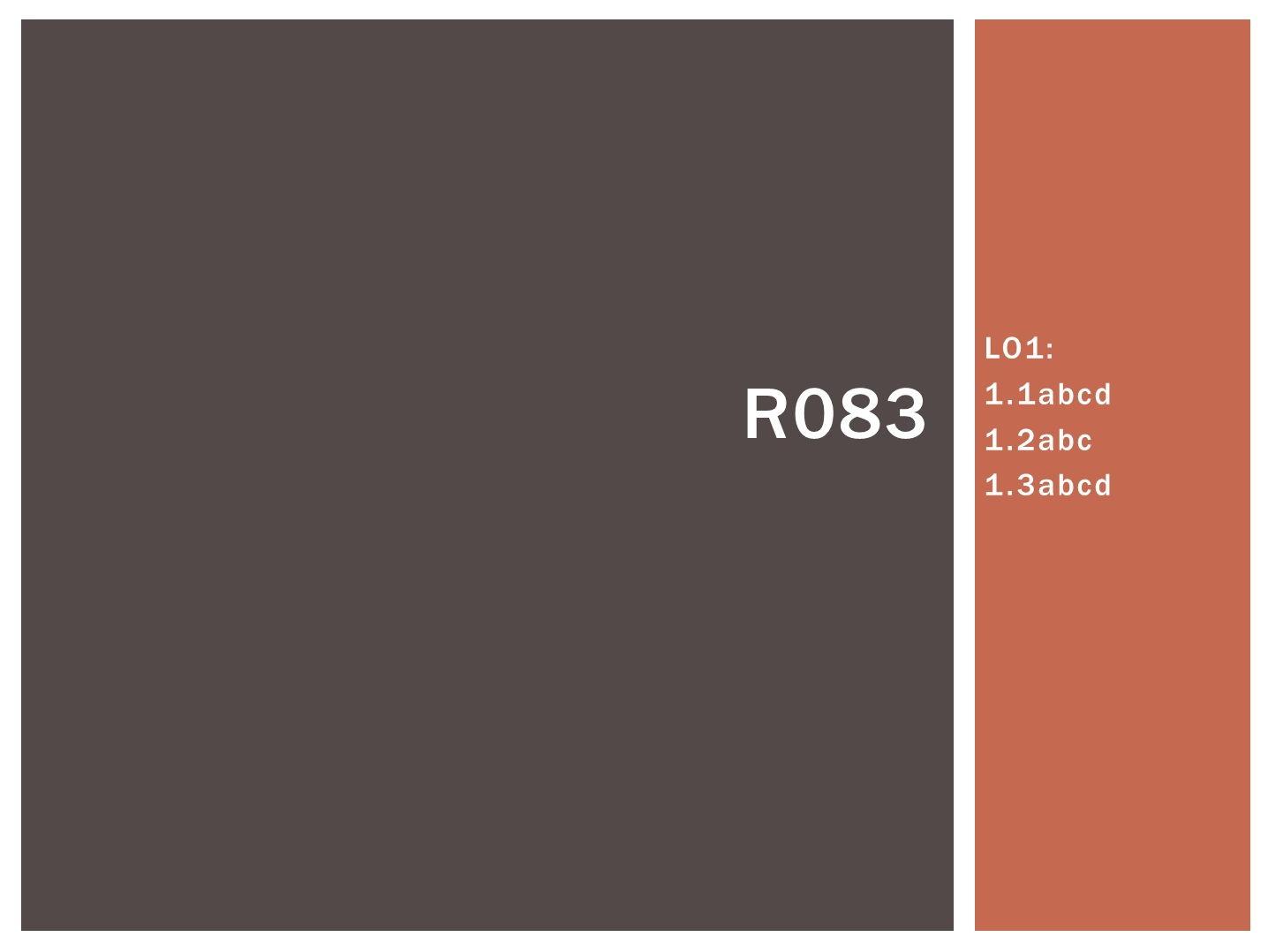 R083 - Creating Digital Characters, [LO1], CAMNATS, Creative iMedia Lvls 1/2