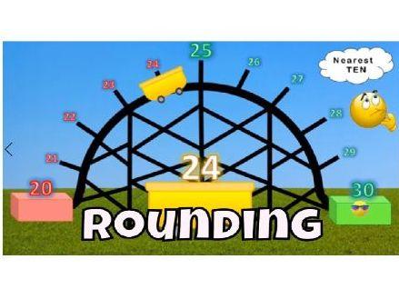 Rounding Roller Coaster Video # 1 - Rounding 2 Digit Numbers Nearest Ten