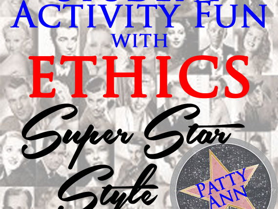 ETHICS CIVICS Super Movie Star Style > Student Activity Challenge Game *No Prep*