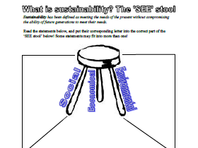 "The ""SEE Stool"" of Sustainability"