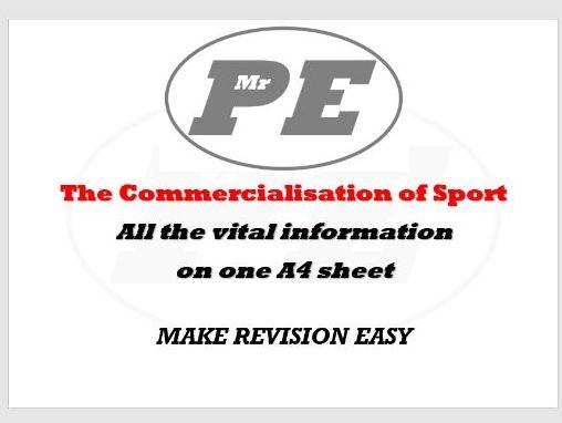 KEY INFO SHEET Commercialisation of Sport