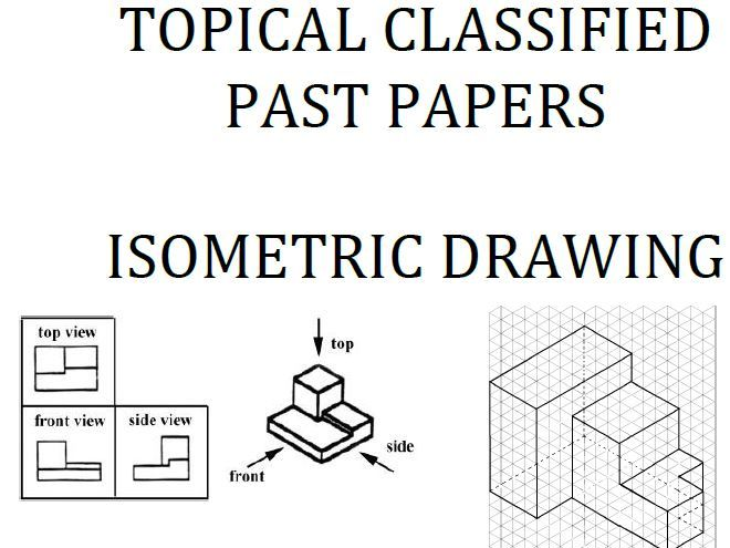 Cambridge Lower Secondary Checkpoint Topical Classified Past Papers-Mathematics-Isometric Drawings