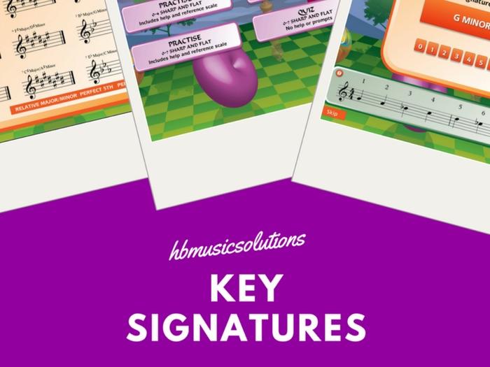 Key Signatures Music Interactive Activities