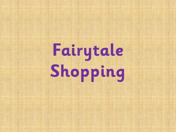 Fairytale shopping - What's the total?