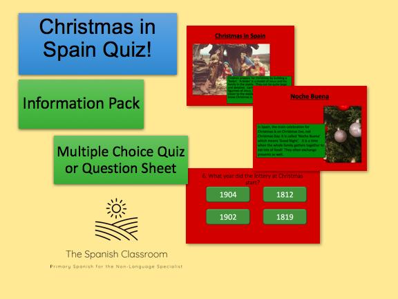 Christmas in Spain Quiz Concurso de Navidad en España