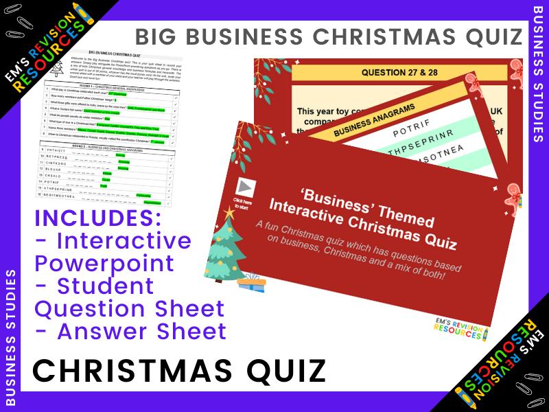 BUS | BIG BUSINESS CHRISTMAS QUIZ
