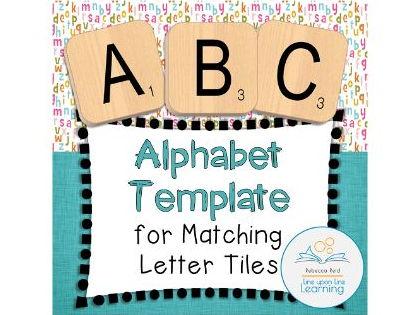 ABC Letter Tiles Alphabet Template