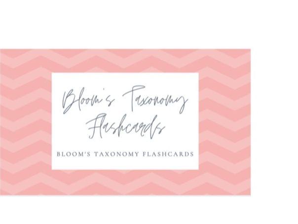 Bloom's Taxonomy Lanyard Flash Cards