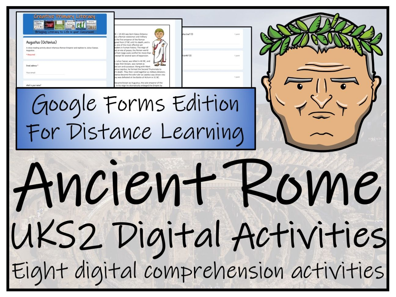UKS2 Ancient Rome Reading Comprehension & Distance Learning Bundle