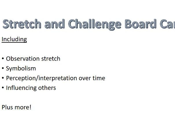 History/ Humanities Stretch and Challenge Board Cards for your classroom