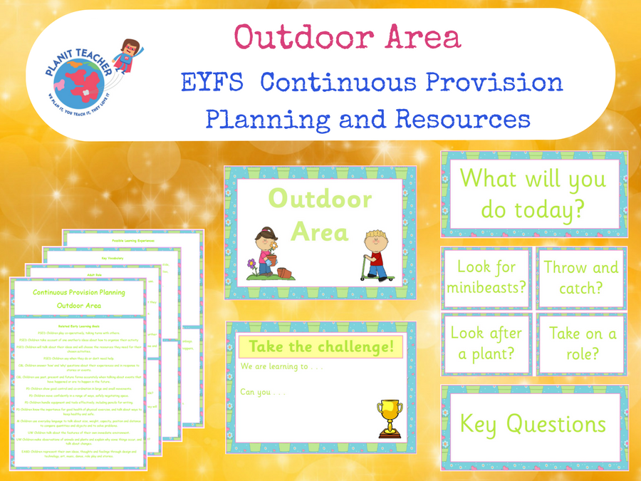 EYFS Outdoor Area - Continuous Provision Planning and Resources