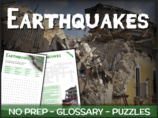 Earthquakes - Puzzles & Glossary