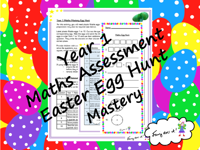 Year 1 Maths Mastery Assessment Easter Egg Hunt