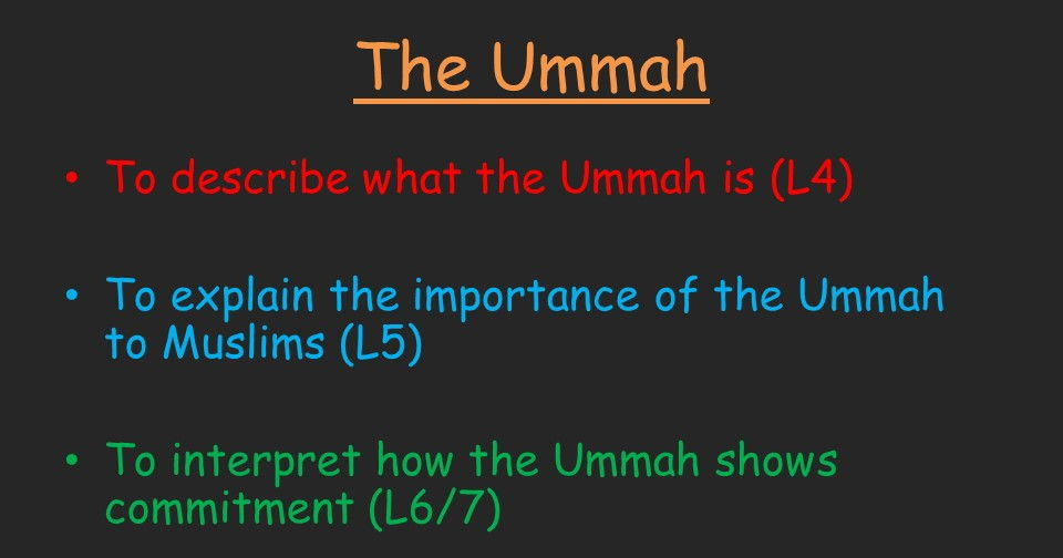 The Ummah - Muslim Community (KS3 Islam lesson)