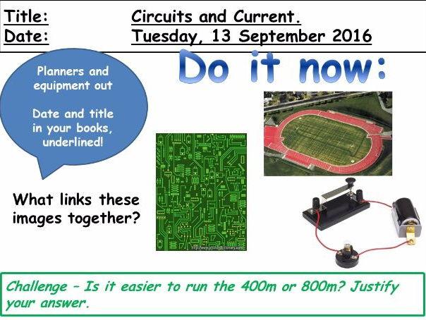 KS3 Physics: Circuits and Current
