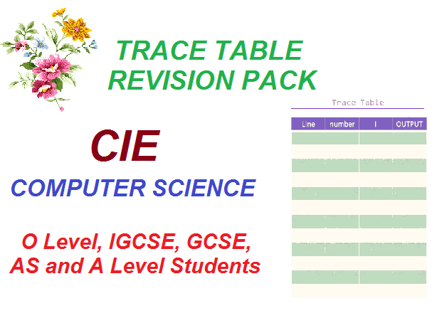 Trace Table Revision  Pack -worksheet